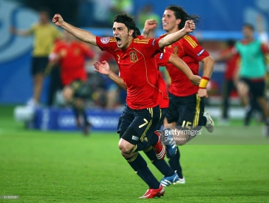 during the UEFA EURO 2008 Quarter Final match between Spain and Italy at Ernst Happel Stadion on June 22, 2008 in Vienna, Austria.