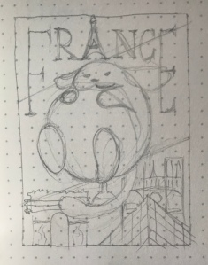 A rough sketch of my WordCamp Europe postcard submission