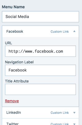 16 customizer menu social remove channel