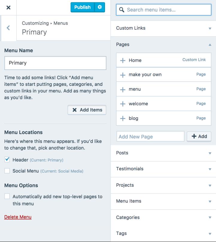 35 customizer menu primary add